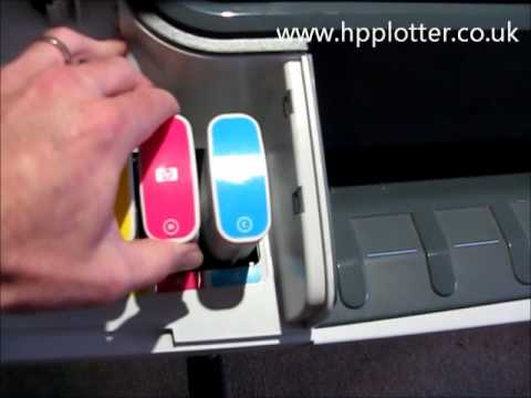 Designjet T1100/T1120 Series - Replace ink cartridges on your printer