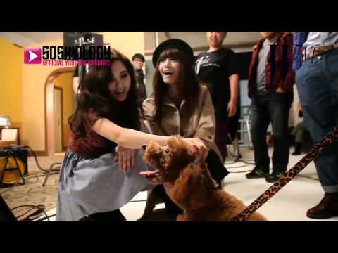 [SSGSubs]120124 Yoona & Seohyun with Kai's Dog