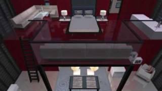 Los Sims 2. Construcción De Casa Moderna . CUBO ROJO