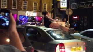 Girl Fingering Herself In Public On A Car