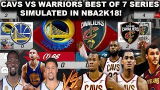 New look Cavaliers vs Warriors - Best of 7 Series Simulated in NBA2K18!