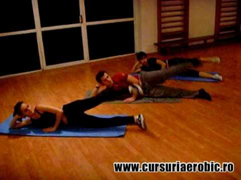 Exercitii saltea : abdomene, solduri, fesieri