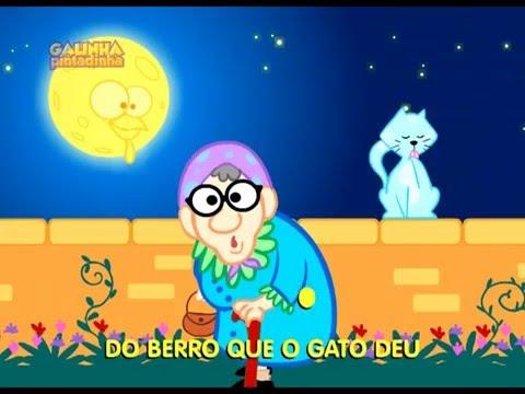 Galinha Pintadinha - Atirei o pau no gato - videoclip infantil animado do DVD