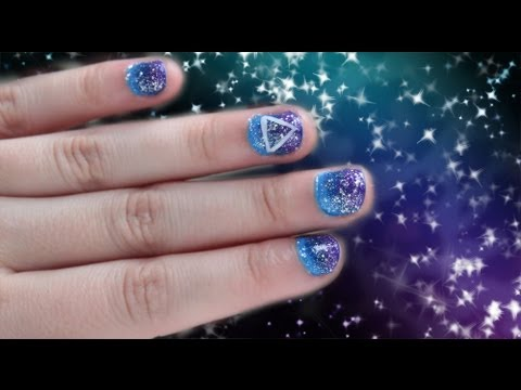 Galaxy Inspired Bright Space Nails Nail Designs Video