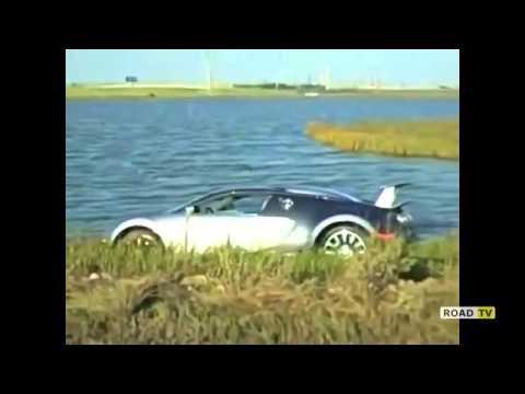 Как элитный спорткар Bugatti Veyron доставали из озера.