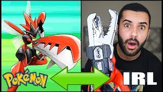 INSANE POKEMON ATTACKS IN REAL LIFE!!! CHALLENGE!! (SCIZOR METAL CLAW) *INSANELY DANGEROUS*