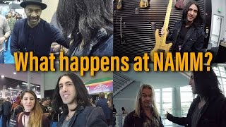 What the hell is NAMM? 😀 NAMM Show Walkthrough and Tour - Anna Sentina - Marcus Miller (GoPro Vlog)