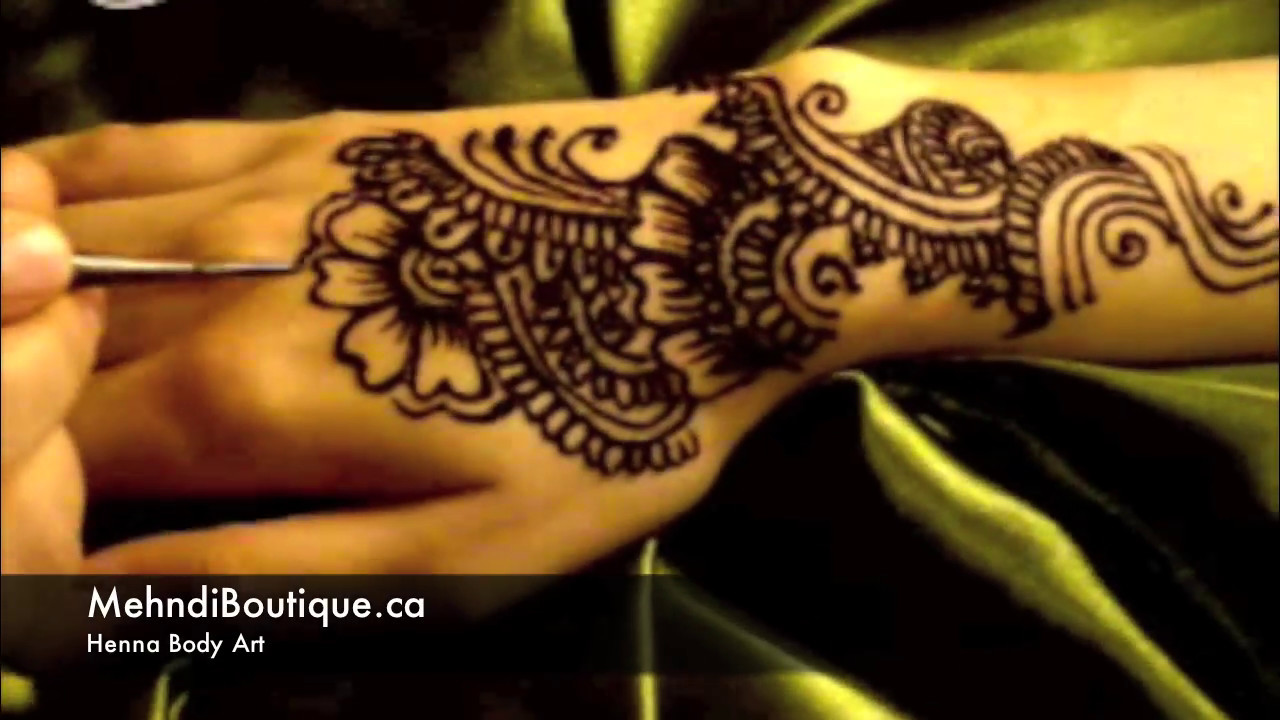 Henna Mehndi Montreal : Arabic henna design by mehndi boutique youtube