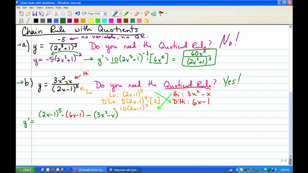 how to find derivative with combined rules