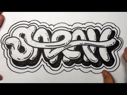 How to Draw Graffiti Letters - Write Sarah in Cool letters