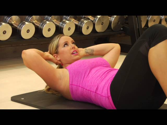 How to Do a Four-Points Ab Crunch Exercise : Easy & Effective Exercises