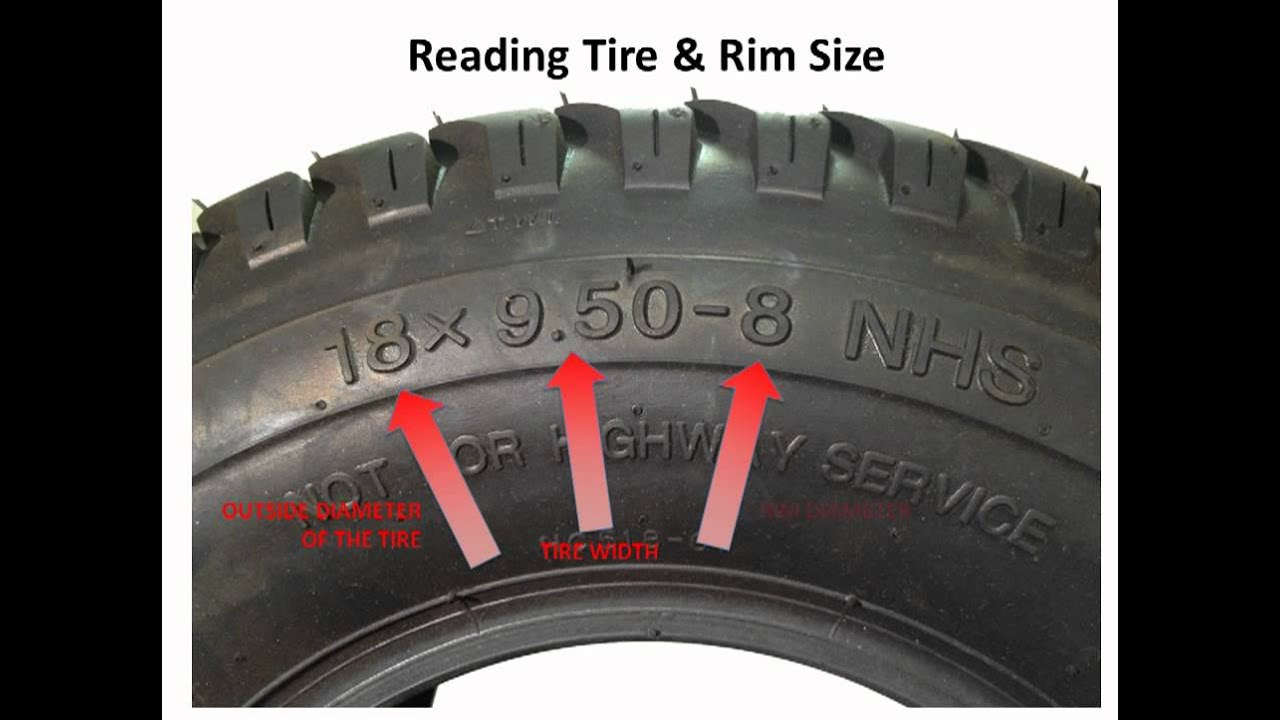 Lawnmower tires - How to read the numbers on the sidewall ...