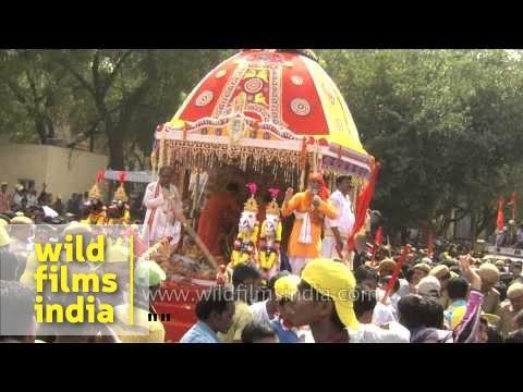 Hindu devotees rejoice and celebrate Lord Jagannath's Rath Yatra, Delhi