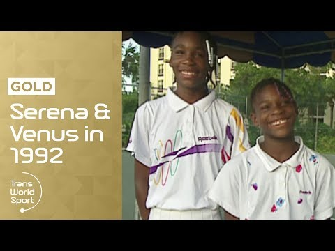 11 and 12-year-old Venus &amp; Serena Williams on Trans World Sport