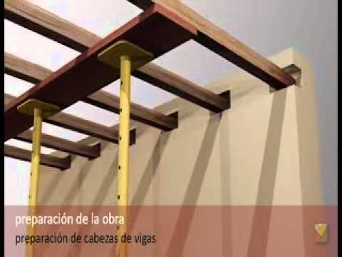 Refuerzo de acero con viga de madera youtube - Como restaurar vigas de madera ...