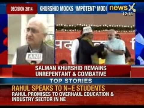 Salman Khurshid defends statement on Narendra Modi