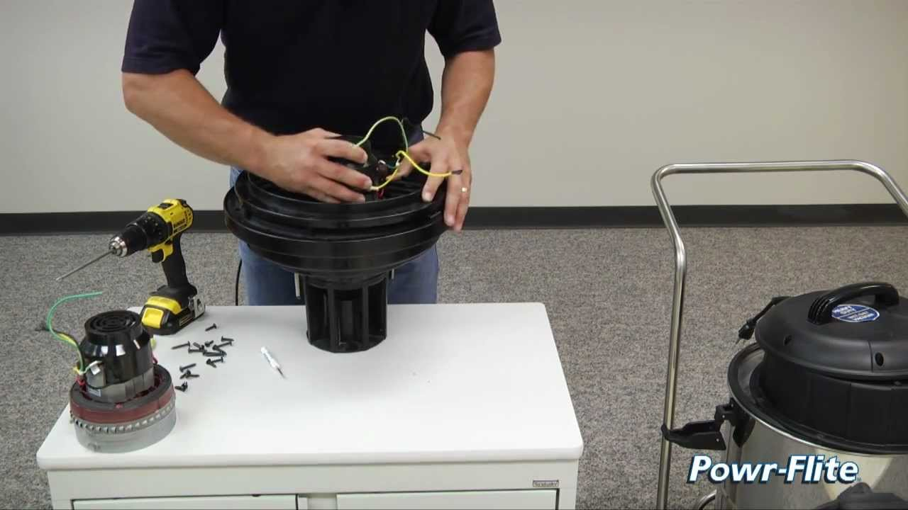 How To Replace The Motor In A Wet Dry Vacuum Youtube