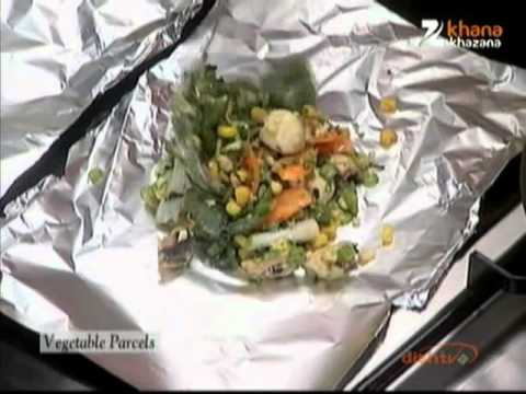 Vegetable Parcels - Sanjeev Kapoor - Khana Khazana