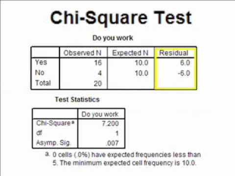chi square test Chi square test the chi square test is a statistical test which consists of three different types of analysis 1) goodness of fit, 2) test for homogeneity, 3) test of independence.