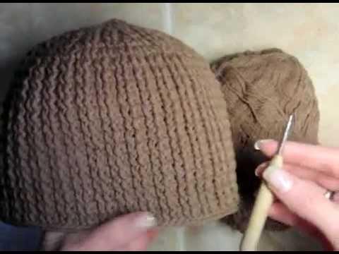 как вязать шапку английской