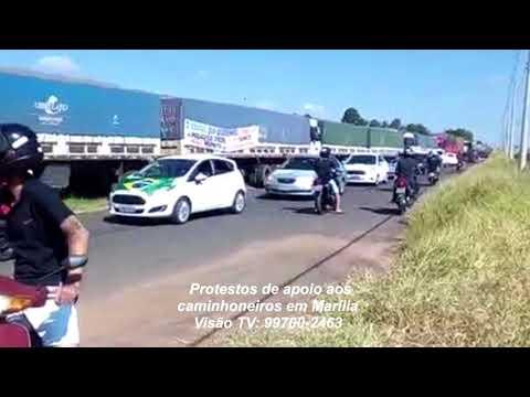 Domingo sem combustíveis e com protestos em Marília
