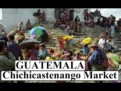 Colorful beautiful Chichicastenango Market Guatemala