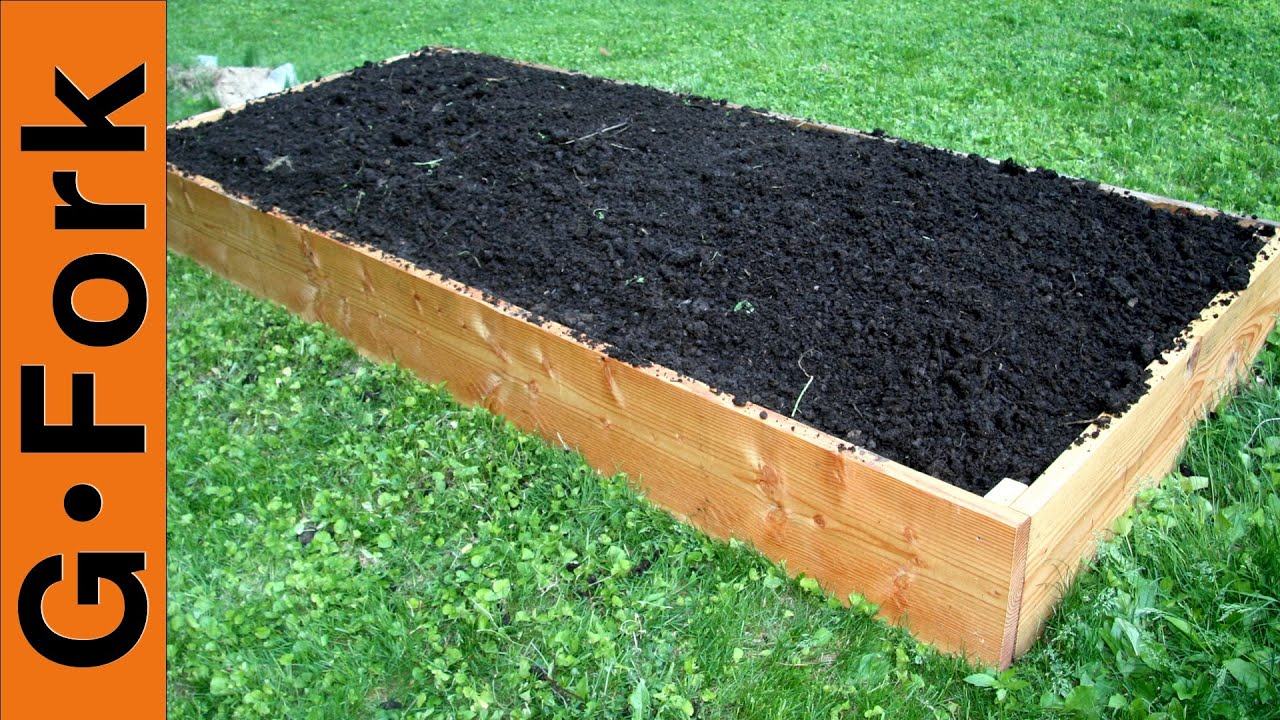 Simple Raised Garden Bed Plans GardenForkTV YouTube
