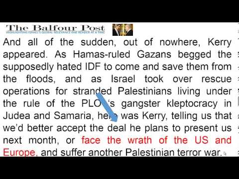 God's Curse Follows Kerry to Israel