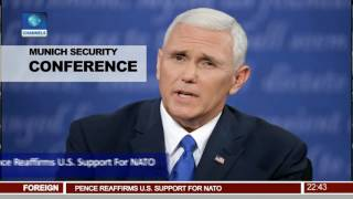 Pence Reaffirms U S  Support For NATO 18/02/17 Pt.3