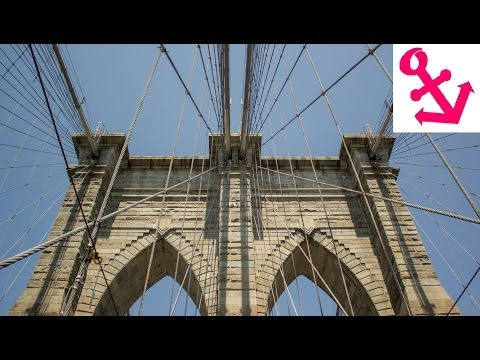 Walk across Brooklyn Bridge New York NYC