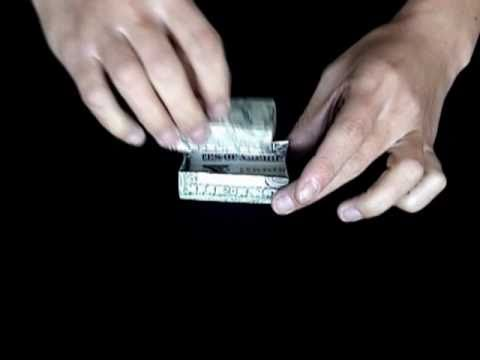 how to make origami out of money youtube