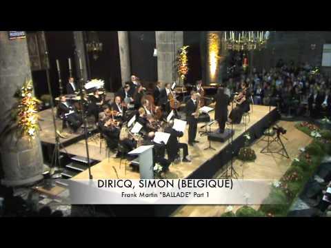 DIRICQ, SIMON (BELGIQUE) Ballade de Frank Martin Part 1