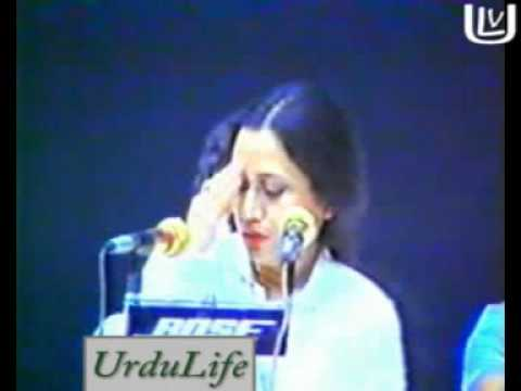 Parveen Shakir ,  reciting poetry in Dubai. [پروین شاکر]