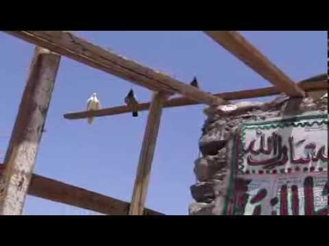 White Pigeons Ghar-e-Hira jabl-e-noor on the mountain of Makkah 8 April 2013 in Saudi Arabia