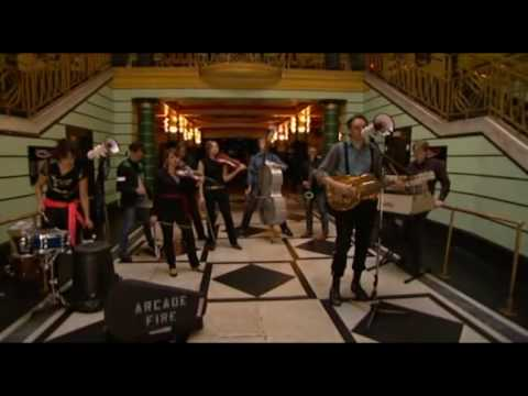 Arcade fire well the lighthouse live sydney 2008 the for Miroir noir neon bible archives