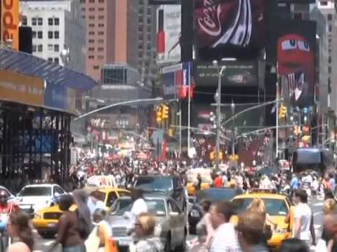 Times Square during US goal in 2010 World Cup
