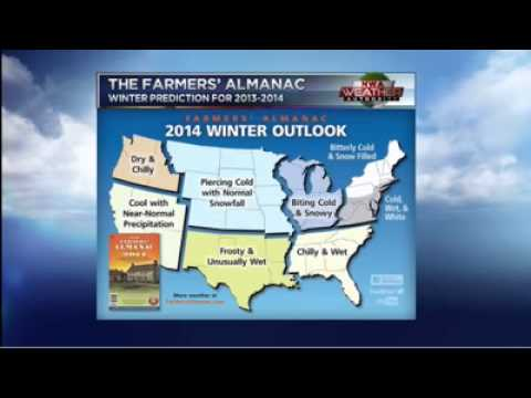 Farmers' Almanac 2013-2014 Winter Prediction - YouTube