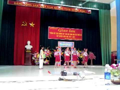 Giao lưu Tiếng Việt phần tiểu phẩm-trường Tiểu học 19-8