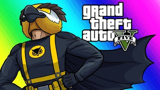 GTA5 Online Funny Moments - New Superhero Car and Fighting for Frank!