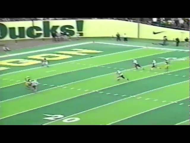 Oregon WR Damon Griffin 37 yard touchdown catch vs. Stanford 9-26-1998