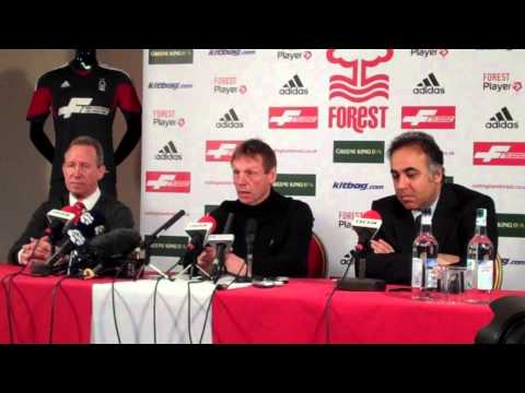 Stuart Pearce's Nottingham Forest press conference