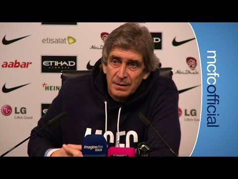 PELLEGRINI ON NASRI'S RETURN City v Chelsea FA Cup Manuel Pellegrini press conference Part I