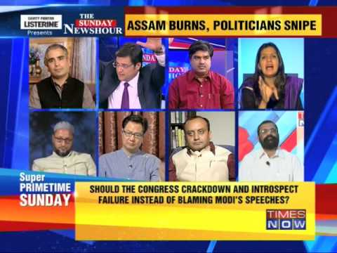 The Newshour Debate: Assam burns, politicians snipe - Part 2 (4th May 2014)