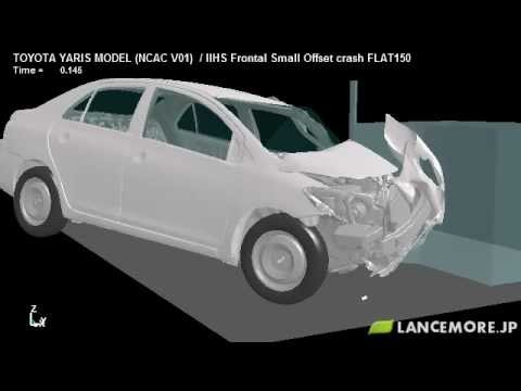 LS-DYNA Sample Model No.260 Frontal Small Overlap Crash Test