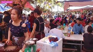 CHỊ XINH GÁI BÁN LỢN QUAY TẠI LỄ HỘI CHÙA BẮC NGA LẠNG SƠN #Thai Lạng Sơn