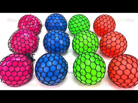 Learn Colors Squishy Balls Fun for Kids Kinder Man Microwave Surprise Toys Toy Appliance Playset