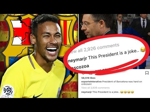 Neymar TROLLS Barcelona President | Futbol Mundial