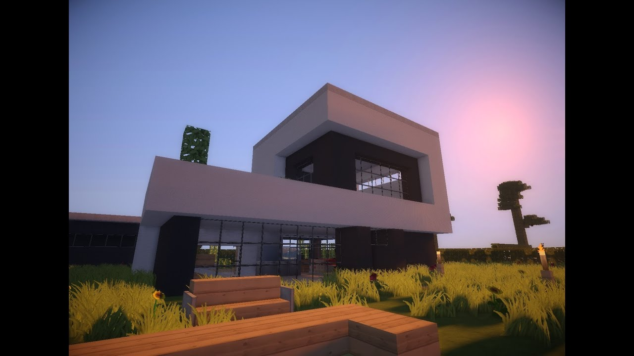 Minecraft modern house 8 modernes haus hd youtube for Modernes haus minecraft