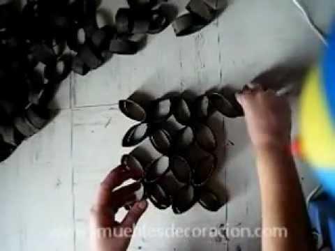 Decoraci n adornos reciclando rollos de papel higi nico for Decoracion para espejos