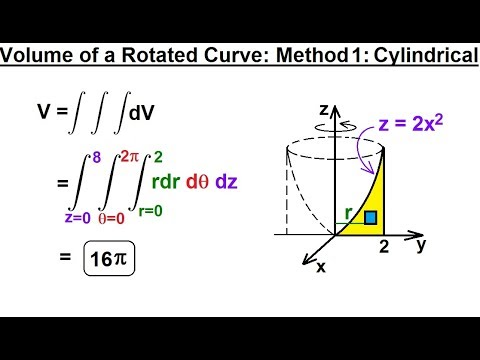 Calculus 3: Triple Integrals (8 of 25) Volume of a Rotated Curve: Method 1: Cylindrical
